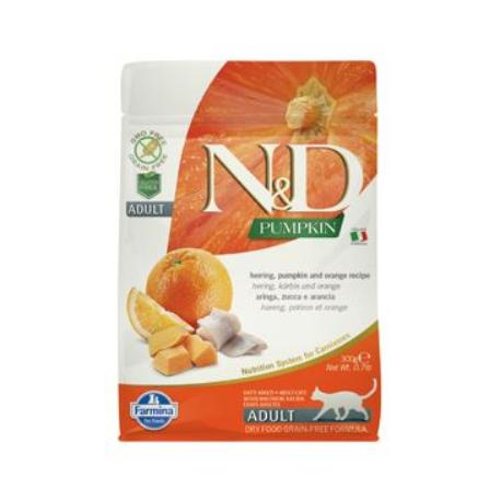 N&D GF Pumpkin CAT Herring & Orange 300g