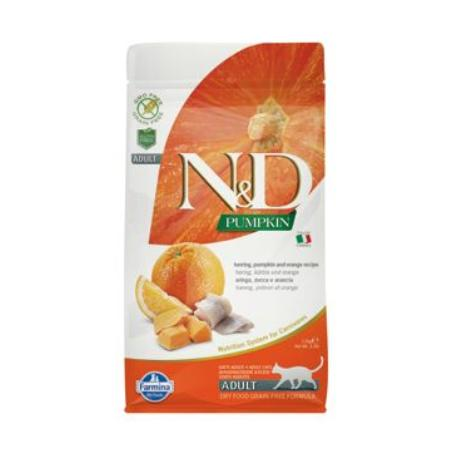 N&D GF Pumpkin CAT Herring & Orange1,5kg
