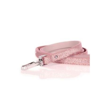 Vodítko kožené Růžové třpytivé 120cm/1,5cm 1ks M&P