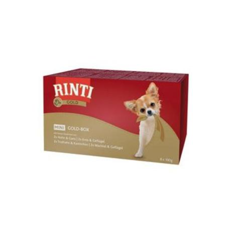 Rinti Dog Gold Mini vanička multipack 4x2x100g