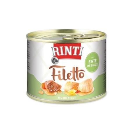 Rinti Dog Filetto konzerva kuře+kachna ve šťávě 210g