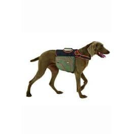 Batoh pro psy L zelená/oranž. reflexní KAR 1ks