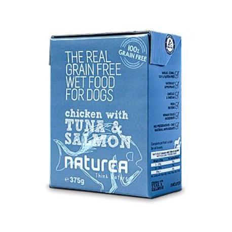 Naturea GF dog vlhké - Chicken, Tuna, Salmon 375g