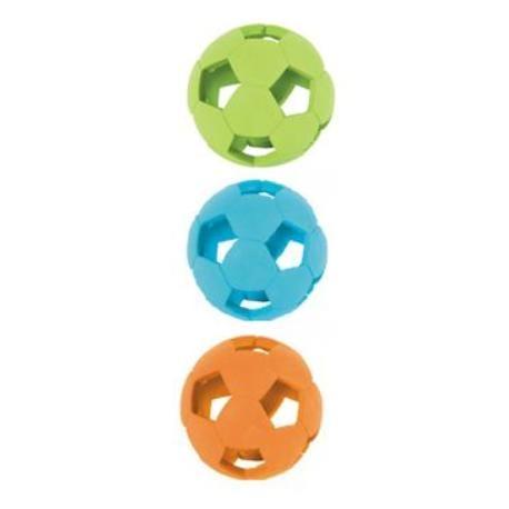Hračka pes míček gumový SOCCER 7,5cm mix barev Zolux