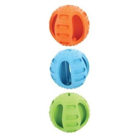 Hračka pes míček gumový BONE 7,5cm mix barev Zolux
