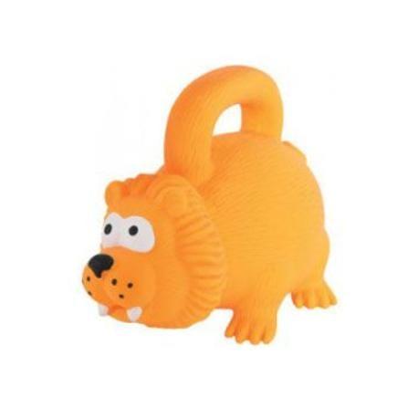 Hračka pes HANDLE latex 15cm oranžová Zolux