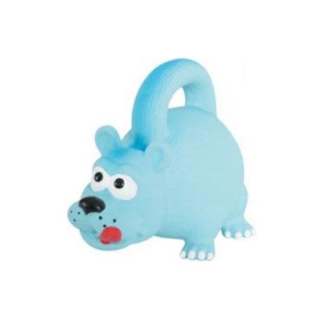 Hračka pes HANDLE latex 15cm modrá Zolux
