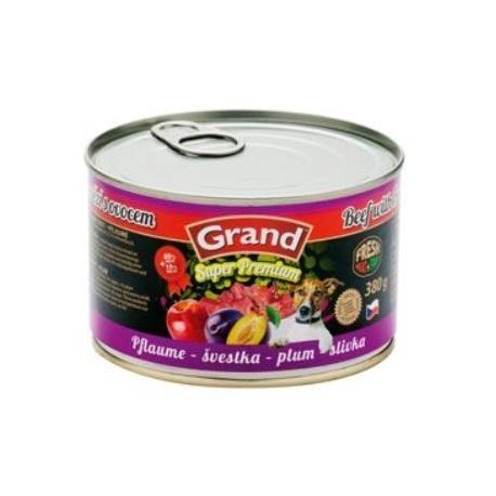 GRAND konz. pes hovězí/švestka 380g