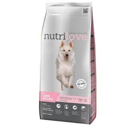 NutriLove Sensitive jehně + rýže 12kg