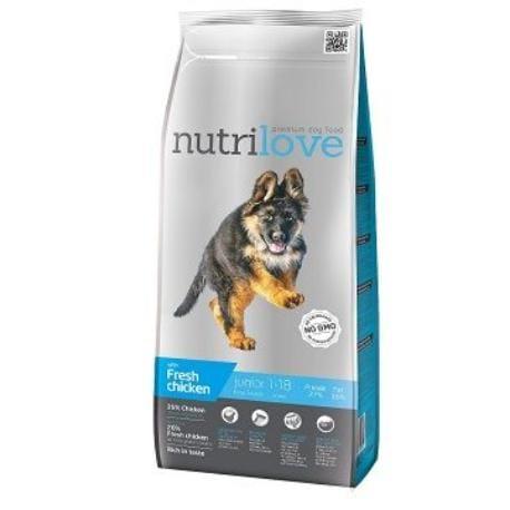 NutriLove Junior L fm kuřecí 12kg + Sleva 5% od 2ks