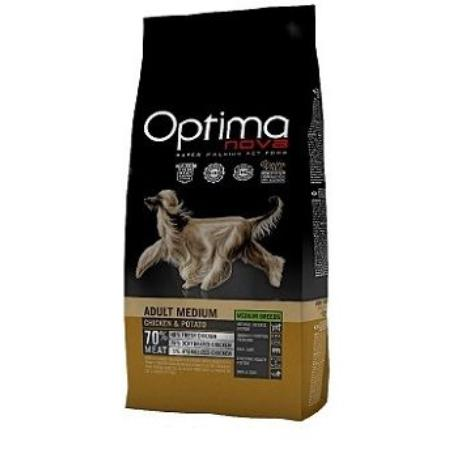 OptimaNova dog Adult Medium GF Chicken 2kg + VÝPRODEJ