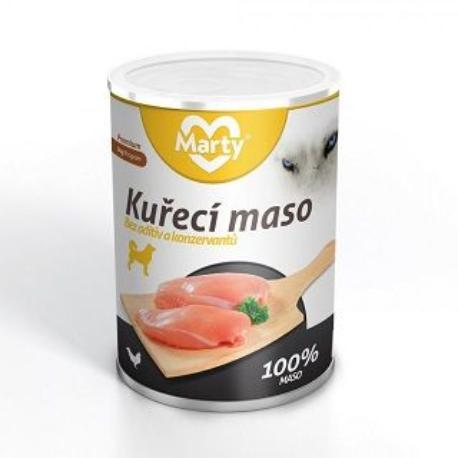 Marty konzerva pro psy 100% masa - kuře 400g