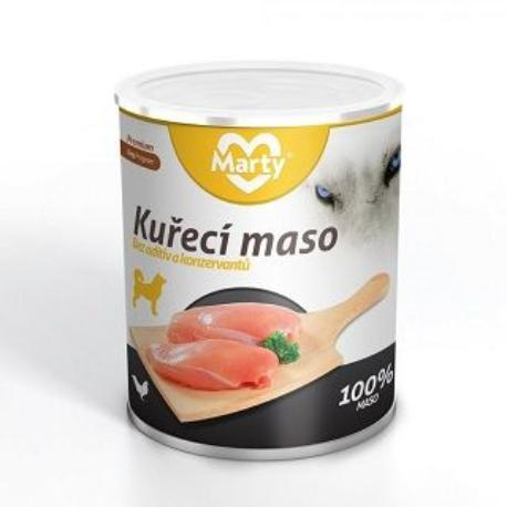 Marty konzerva pro psy 100% masa - kuře 800g