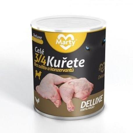 Marty DeLuxe konz. pro psy 100% masa - 3/4 kuřete 800g