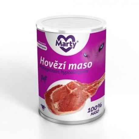 Marty konzerva 100% masa - monoprotein hovězí 400g