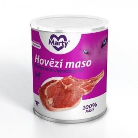 Marty konzerva 100% masa - monoprotein hovězí 800g