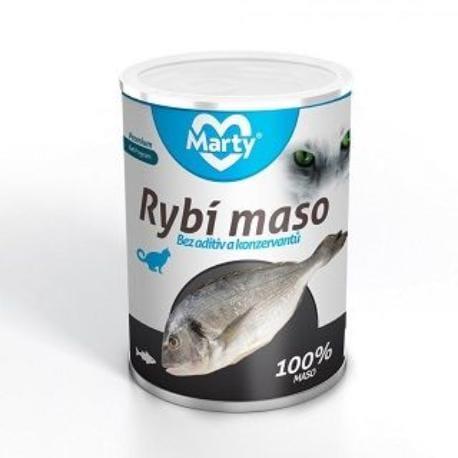 Marty konzerva pro kočky 100% masa - rybí 400g