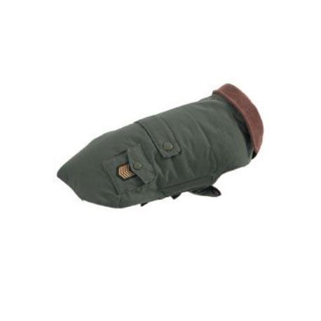 Obleček voděodolný pro psy OXFORD khaki 40cm Zolux