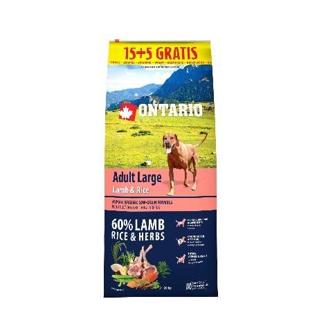ONTARIO Dog Adult Large Lamb & Rice 15kg