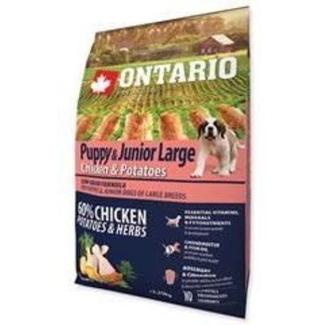 ONTARIO Dog Puppy Junior Large Chicken & Potatoes 2,25kg