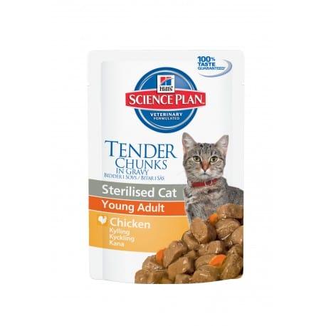 Hill's Feline kapsa Adult Y. Sterilised Chicken 12x85g
