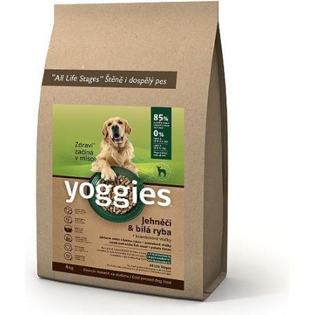 Yoggies 4kg jehněčí a bílá ryba