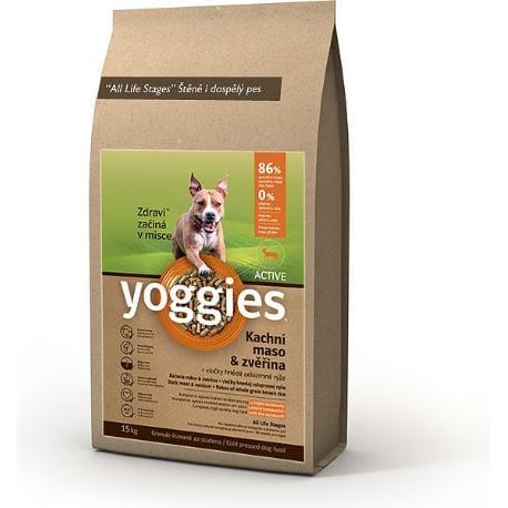 Yoggies Active 15kg kachna a zvěřina