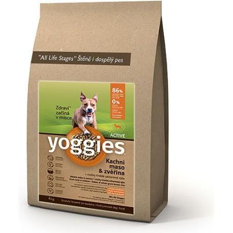 Yoggies Active 4kg kachna a zvěřina