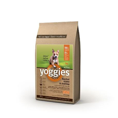 Yoggies Active 20kg kachna a zvěřina