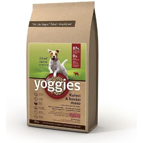Yoggies 15kg kuřecí a hovězí maso