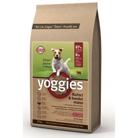 Yoggies Mini 15kg kuřecí a hovězí maso