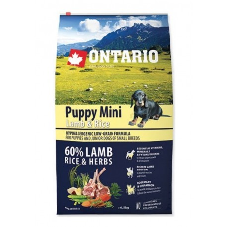 ONTARIO Dog Puppy Mini Lamb & Rice 6,5kg