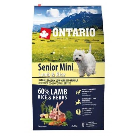 ONTARIO Dog Senior Mini Lamb & Rice 6,5kg
