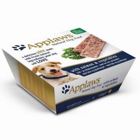 Applaws paštika Dog s lososem a zeleninou 150g