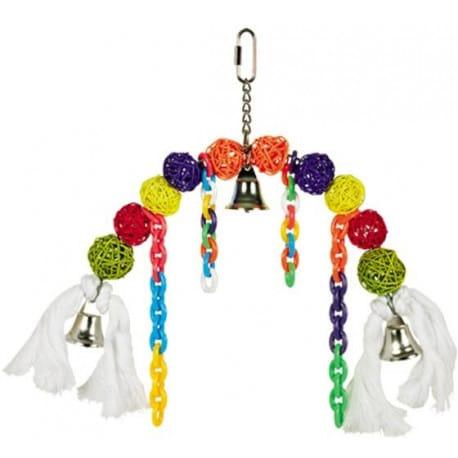 Nobby závěsná hračka pro papoušky proutěné kuličky 22