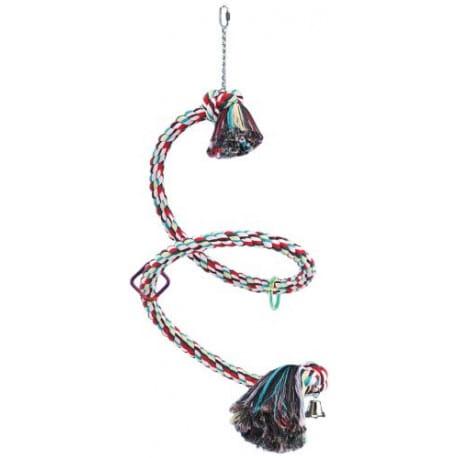 Nobby šplhací bavlněná spirála pro papoušky 3,5cm x 225cm