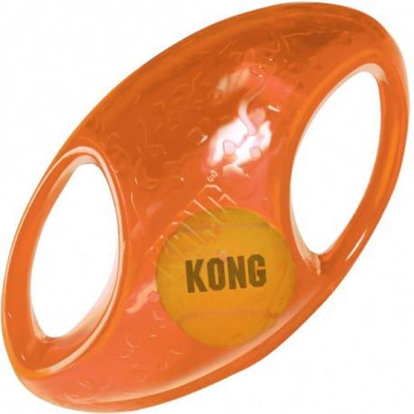 Kong Jumbler hračka pro psy gumový míč rugby L/XL 18cm