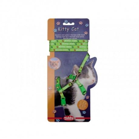 Nobby Kitty Cat zelený set postroj + vodítko pro kotě