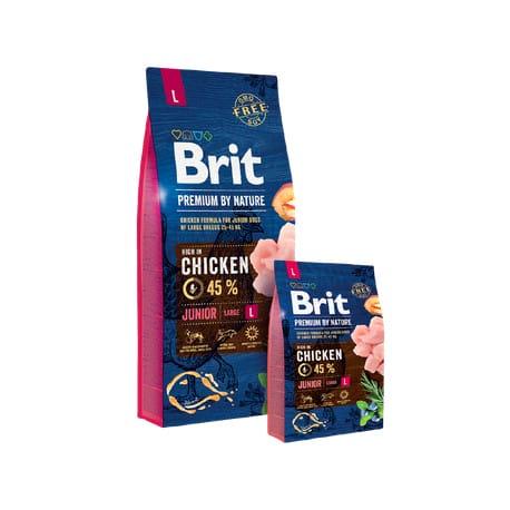 Brit Premium Dog by Nature Junior L 2 x 3kg