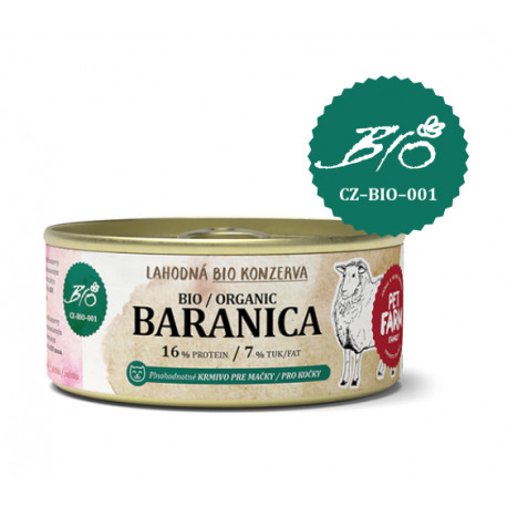Konzerva pro kočky Pet Farm Family Baranica 100 g
