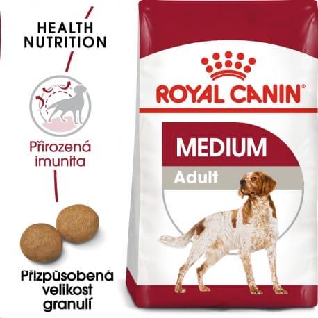 Royal Canin Medium Adult granule pro dospělé střední psy 4kg