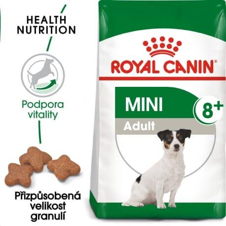 Royal Canin Mini Adult 8+ granule pro stárnoucí malé psy 800g
