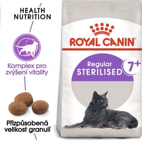 Royal Canin Sterilised 7+ granule pro stárnoucí kastrované kočky 400g