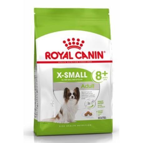 Royal Canin X-Small Adult 8+ granule pro stárnoucí trpasličí psy 500g