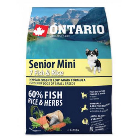 ONTARIO Dog Senior Mini Fish & Rice 2,25kg
