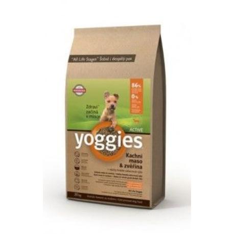Yoggies Active Minigranule kachna a zvěřina 20kg