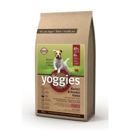 Yoggies Minigranule kuřecí a hovězí maso 20kg