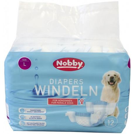 Nobby papírové pleny pro feny L 38-56cm (12 ks)