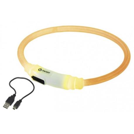 Nobby LED svítící kroužek na krk pro kočky žlutá 35cm