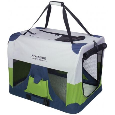Nobby Traveller XXL Fashion nylonový box kennelka pro psy 92x64x64cm